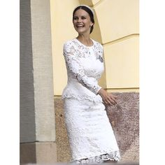 Princess Sofia of Sweden Princess Sofia Of Sweden, Princess Sophia, Swedish Royalty, Prince Carl Philip, Royal Dresses, Victoria, Queen Dress, Princesa Diana, Little White Dresses