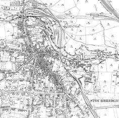 Map of Stourbridge Town from 1781 Table Themes Pinterest
