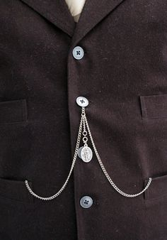 Double Albert Pocket Watch Chain with Drop by JSKupperman on Etsy