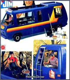 Adventure Mobile (Camper Base) from Big Jim - Spy Vehicles manufactured by Mattel [Loose] 1970s Childhood, Childhood Toys, Childhood Memories, Gi Joe, Vintage Barbie, Vintage Toys, Old School Toys, Cartoon Tv Shows, Nintendo