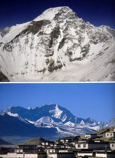 Top: Cho Oyu West Face. Bottom: Cho Oyu Northwest Face