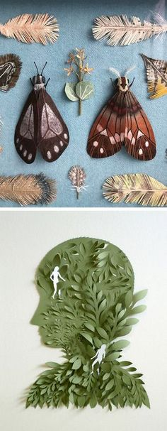 Paper illustration | cut paper art | paper craft | nature-inspired art