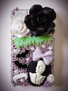 Zombie Bat Decoden Rockabilly iPhone 4 Cover by CoutureKawaii, £16.00