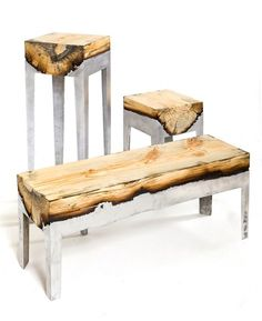 Part of the Wood Casting fine art furniture collection, the Cypress Short Console by Hilla Shamia is a one-of-a-kind handmade bench, featuring gorgeously unique Art Furniture, Furniture Making, Furniture Design, Outdoor Furniture, Milan Furniture, Concrete Furniture, Modern Furniture, Concrete Wood, Futuristic Furniture