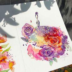 Потрясающие фэшн иллюстрации и лак для ногтей