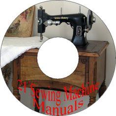 21 Singer Viking Wheeler Wilson Pfaff Sewing Machine Instruction Manuals on CD