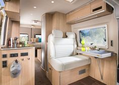 Less than a month after Roadtrek Motorhomes was sold to the Erwin Hymer Group North America Inc, the company is debuting an all-new Class B motorhome called the Kombi Motorhome, Motorhome Interior, Van Interior, Rv Campers, Camper Interior Design, Happy Campers, Class B Camper Van, Class B Rv, Camping Con Glamour
