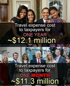 The non tax paying Drumpf Klan living large on the American taxpayers dime!  I don't hear you R's!  Where is the outrage??