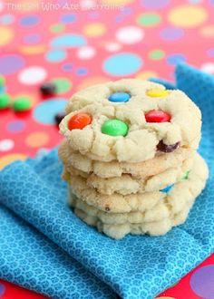 Chewy M&M Sugar Cookies, #Chewy, #Cookies, #Sugar