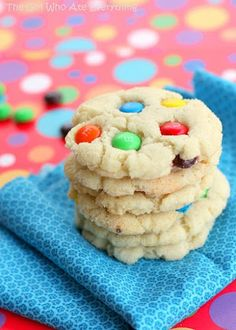 Chewy M&M Sugar Cookies, #Chewy, #Cookies, #Sugar