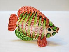 Aquarium Handcrafted MINIATURE HAND BLOWN GLASS Fish FIGURINE Collection # 110