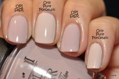 Hey guys, here are a couple Orlys I tried recently.   Orly Pure Porcelain  - I had heard about how awesome this polish was and needed to try...