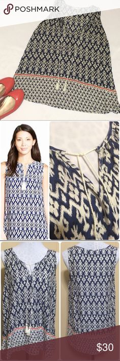 ⚡️Flash Sale⚡️BeachLunchLounge Tunic Beautiful ikat print tunic tank by BeachLunchLounge collection for Nordstrom. Navy and off-white with a coral stripe near the bottom hem. Length could easily be worn as a mini dress, beach coverup, or tank with shorts or linen pants. Super lightweight and breathable but not at all see through. Tassels that hang down the front. ⚡Dropped from $30 for Flash Sale. Sale price is firm unless bundled for an additional 15% off⚡ BeachLunchLounge for Nordstrom Tops…