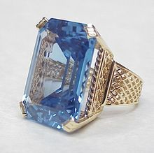 WOW 36 Carat Indicolite / Blue Tourmaline Ring