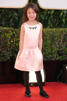 Even Modern Family's Aubrey Anderson-Emmons knows how to dress for her age.  Super cute in this Tea Collection dress