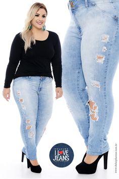 b38f60182f6 Coleção I Love Jeans Plus Size - daluzplussize.com.br Estilo Casual  Feminino