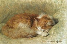 A Sleeping Cat, 1898 by Henriëtte Ronner-Knip