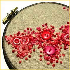 French knots and buttons