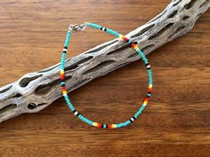 Excited to share the latest addition to my shop: Seed bead anklet boho anklet southwestern anklet festival anklet desert anklet tribal beaded anklet festival anklet native american Cute Anklets, Beaded Anklets, Beaded Choker Necklace, Seed Bead Necklace, Seed Bead Bracelets, Seed Bead Jewelry, Ankle Bracelets, Cute Jewelry, Beaded Jewelry