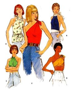 Butterick 3749 Misses' Retro Set Tie Knit Midriff Fashion Vintage, 70s Fashion, Fashion Killa, Vintage Patterns, Vintage Sewing, Clothing Patterns, Sewing Patterns, Vintage Dresses, Vintage Outfits