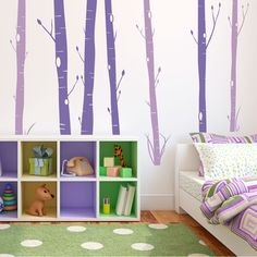 Aspen Woods Violet Wall Decal Wall Decal at AllPosters.com