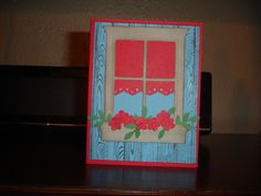 Stampin up Country window card with flowers - pinned by pin4etsy.com