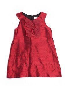Girl Florence Eisemean Red Silk Holiday Party Shift Dress Size 4 #FlorenceEiseman #DressyHolidayWedding