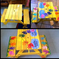 Handprint Picnic Table