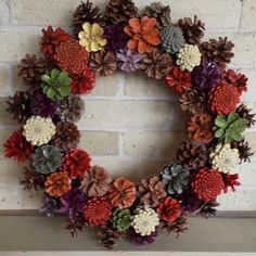 Items similar to Pine Cone Wreath Dried Wreath Fall Wreath Christmas Wreath Fall Centerpiece Door Wreath Holiday Wreath Natural Wreath Winter Wreath on Etsy – Fall Wreath İdeas. Christmas Wood Crafts, Gold Christmas Decorations, Pine Cone Decorations, Farmhouse Christmas Decor, Pine Cone Art, Pine Cone Crafts, Pine Cones, Natal Natural, Pine Cone Flower Wreath