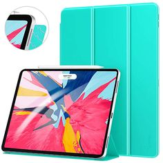 Ztotop Case for iPad Pro Inch Strong Magnetic Ultra Slim Minimalist Smart Case, Trifold Stand Cover with Auto Sleep/Wake for iPad Pro Inch 2018 Release Gen),Light Green Ipad Pro 12 9, Ipad Case, Minimalist, Sleep, Strong, Toys, Cover, Slipcovers, Blankets