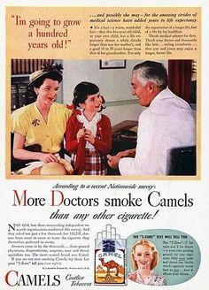 13 anúncios antigos que mostram o cigarro como algo saudável.