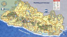 El Salvador mapa - Buscar con Google