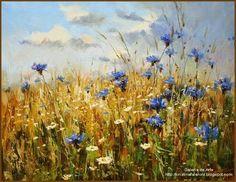 38 ideas flowers art oil canvases for 2019 Landscape Art, Landscape Paintings, Watercolor Flowers, Watercolor Paintings, Summer Painting, Global Art, Art Oil, Painting Inspiration, Flower Art