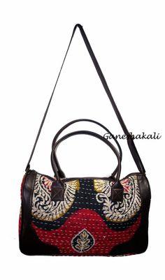 5a8a032633 Handmade Cotton Indian Kantha Traditional Handbag Handmade Tote Bag   Kashmirimports  ArtDecoStyleCrossbodyTote