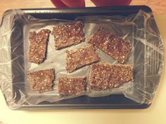 No-Bake AdvoCare Muscle Gain Protein Bars! Recipe: 2 Cups quick oats 1/2 Cup natural peanut butter 1 Tsp of chia/flax seeds 1/2 Cup water 4 Scoops Chocolate (Or vanilla) Muscle gain * I Drizzled agave nectar over them... Freeze and ENJOY! #AdvoCare