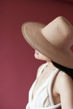 Clyde - Pinch Panama Hat in Nude