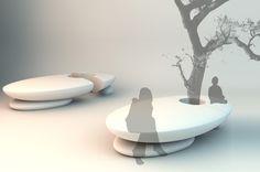 ZEN urban furniture by Veronica Martinez, via Behance