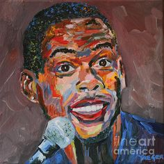 Portrait of Chris Rock. One of the funniest comedians of all time. Acrylic paint on canvas.