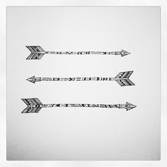 Tribal Arrow Art. Tried to stay as loose as possible with this one. by keriative, via Flickr