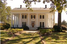 """Barrington Hall, built in 1842, was the home of Barrington King, who along with his father, Roswell King, was the co-founder of the town of Roswell, Georgia. The King family moved from the coast of Georgia in the late 1820s, & decided it was a perfect location for a mill town. Roswell picked the location due to the water power potential of Vickery Creek. In 1839 the Roswell Manufacturing Co. was incorporated, & in the """"founding families"""" built their homes in the Roswell colony"""