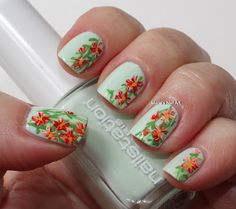 Marias Nail Art and Polish Blog: Menthe's flowers