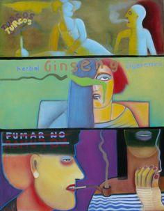 Fumar no, 2011 (Óleo sobre tela) 70 x 90 cm.