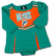 Infant Miami Dolphins Aqua New Rookie Creeper