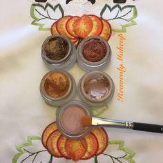 Splurge cream shadows - my favorite colors this time of the year 🦃🍁🍂 #heavenlymakeup #USA #UK #Canada #Mexico #Germany #France #Spain #Italy #Australia #NewZealand #HongKong