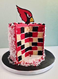 Arizona Cardinals checker board cake!