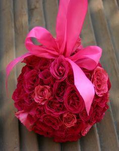 pomander for the flower girls! Spray roses
