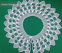 Lace Peter by accessoriesbynez Crochet Collar Pattern, Crochet Patterns, Colar Diy, Beautiful Crochet, Tutorial Crochet, Special Day, White Cotton, Pattern Design, Crochet Necklace