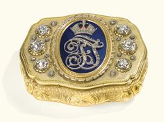 An Austrian Imperial diamond-set gold and enamel presentation snuff box, C.F. Rothe & Neffe, Vienna, late 19th century - Sotheby's