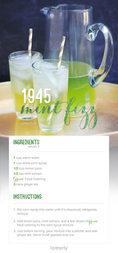 The 1945 Mint Fizz || Lover.ly