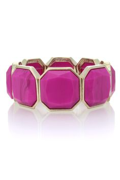 Marble Stone Stretch Bracelet | Pink | Oasis Stores
